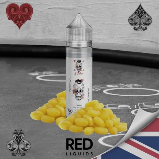 Red Liquids 21 Vape Joker Sherbet Lemon Short Fill 50ml. 00mg.