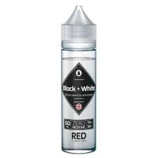Red Liquids Black White Blackcurrent Lemonade Short Fill 50ml. 00mg.